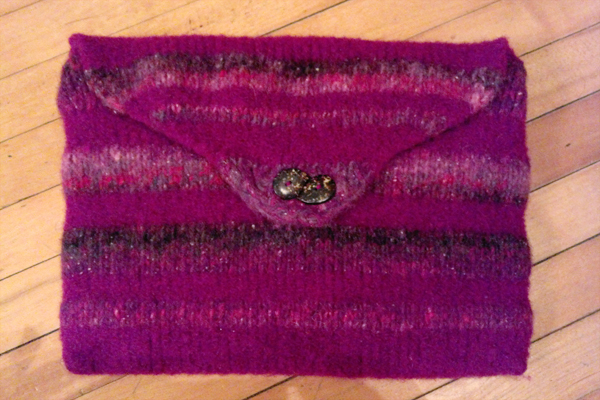How to make a felted laptop sleeve